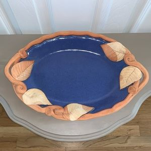 VINTAGE Brigette Haag pottery tray/platter